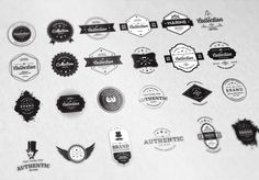 24 Vintage Badges Bundle - 50% off - Logos - 1