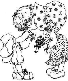sarah kay coloring pages Colouring Pics, Coloring Book Pages, Printable Coloring Pages, Free Coloring, Sarah Key, Sarah Kay Imagenes, Embroidery Patterns, Hand Embroidery, Holly Hobbie