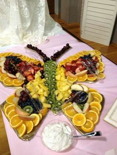 Butterfly shaped fruit platter!!