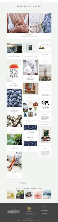 Fresh neutrals and casual beauty - We're loving this new blog running on Station Seven's Kindred theme!