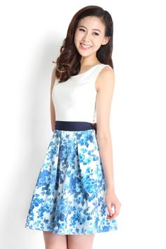 Cafe Parfait Dress In Blue | LilyPirates
