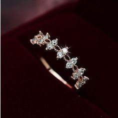 Zircon Wedding Band Ring Fashion Lace Rings boho Jewelry.
