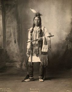 Arapaho Indian, Black Otter photographed in 1898