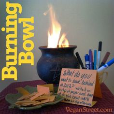 Burning Bowl Ritual - What do you want to leave behind in the New Year? Pagan Witch, Wiccan, Magick, Witchcraft, Witches, New Years Party, New Years Eve, 12 Grapes, Feng Shui