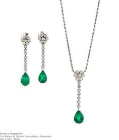 Juego de joyas verdes de Julia