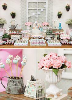 A Whimsical & Girly Garden Birthday Party // Fiesta de jardín para niña