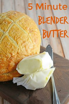 5 Minute Blender Butter- so easy, even the kids can make butter in just 5 minutes with 3 WHOLE ingredients! Plus, 5 recipes for flavored butter! www.savoryexperiments.com via @savorycooking