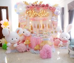 See amazing party ideas today at Party Ideas Daily! 236 Likes 2 Comments - Dream Flavours Celebrations (@dreamflavours) on Instagram: What a cute pinky ? celebration for baby Noella ??? #jakartapartyplanner #magicalparty #pinkparty
