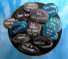 I wonder if I could do something like this in my decorative bowl?  But with better words.