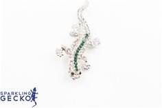 Green Sparkling Gecko Pin Green Sparkling Gecko Pin,Jewelry & Watches, All Fashion Jewelry,Value,Sale