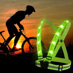 Beautiful Outdoor Hiking Camping Bicycle Signal Light Indicator Reflective Vest Bike Backpack Led Safety Turnning Signal Light Backpack Bright And Translucent In Appearance Bicycle Accessories Cycling