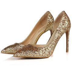 Gorgeous Glittering Sparkled Stiletto Heels #Heels