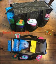 The zip top organizing tote is a mom favorite!