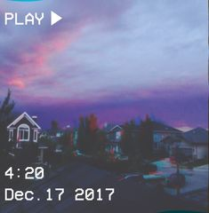 M O O N V E I N S 1 0 1        #vhs #aesthetic # sky #purple #blue #houses #glitch @moonveins101