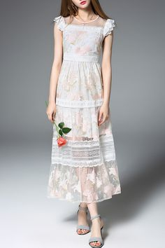 Lace Patchwork Prom Dress