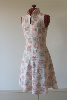 Japanese Cotton Yoked And Gored Dress