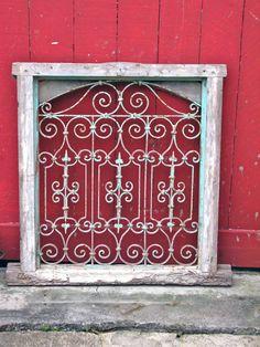 antique window screen