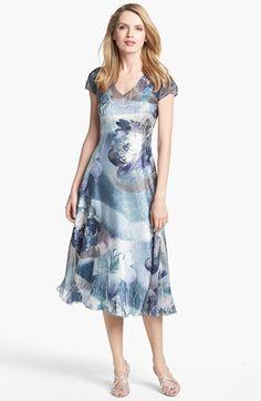 Komarov Print Chiffon A-Line Dress available at #Nordstrom