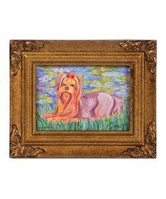 Yorkshire Terrier Bonet Framed Canvas #zulily #zulilyfinds