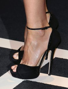Gwyneth Paltrow (shoe detail) attends the Tom Ford Autumn/Winter 2015 Womenswear Collection presentation at Milk Studios on February 20, 2015 in Hollywood, California.