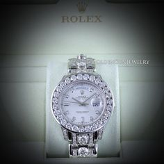 GOLDEN SUN JEWELRY: Rolex Day Date Masterpiece done the Golden Sun Jewelry way. Russian cut diamonds, fully flooded, with 1.25ct. each in the band! @goldensunjewelry #goldensunjewelry #rolex #daydate #masterpiece #russiancut #niketalk #platinum #eyecandy #wristcandy #armcandy #flooded #flawless #detroit #jewelry #fashion #fashionista #designer #luxury #platinum #timepiece #watch #luxurywatch
