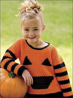 My Little Pumpkin #crochet sweater pattern over at ePatterns Central
