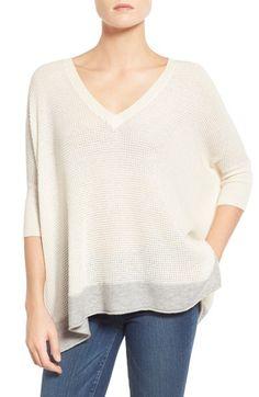 Splendid 'Cruz' Colorblock V-Neck Sweater