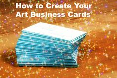 Moo is a great company that makes it easy to order new business cards for your art business.