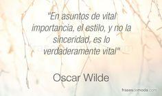 Frase de Oscar Wilde, escritor