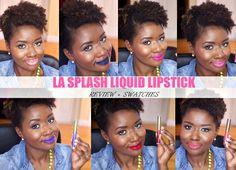 LA Splash Liquid Lipstick Review + Swatches - Lisa a la mode