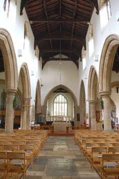 The Church of St Peter in Oundle, Northamptonshire, dates from the 12th century though there was a monastery here from the 8th century.