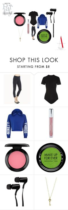 """Party in NY"" by rabiaheart-13 ❤ liked on Polyvore featuring Lyssé Leggings, DKNY, New Look, Neutrogena, MAC Cosmetics, MAKE UP FOR EVER, Outdoor Tech, Tiffany & Co. and NARS Cosmetics"
