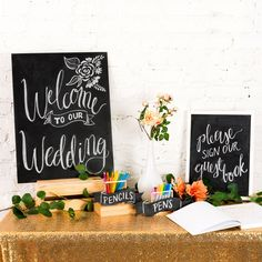 3 Cheap and Easy Ways to DIY Chalkboard Wedding Signs