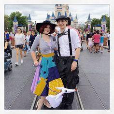 Disney Cosplay Sally, Jack Skellington, and Zero Dapper Day Outfits Dapper Day Disneyland, Disney Dapper Day, Disney Day, Disney Girls, Disneyland Photos, Disney Cosplay, Disney Costumes, Cosplay Costumes, Anime Cosplay