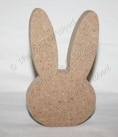 Free standing BUNNY HEAD Easter wooden craft shape MDF 18mm thick