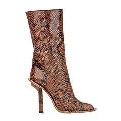 Marni snakeskin mid-calf boots, $1,790; barneys.com