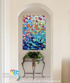 "Interior Design Focal Point Art. Christian Abstract Art. 1 Thessalonians 4:17. Caught Up Together III. VerseVisions inspirational abstract art by Mark Lawrence. Original limited edition signed canvas & paper giclees. Sizes to 54""x81"""