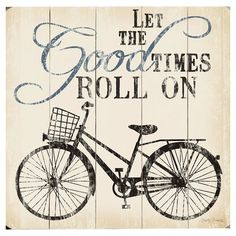 "Artehouse LLC Good Times Roll Graphic Art Print Multi-Piece Image on Wood Size: 13"" H x 13"" W"