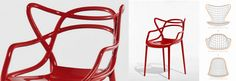 """Philippe Starck wraz z Eugeni Quitllet z 3 kultowych krzeseł: Arne Jacobsen'a, Aero Saarinen'a i Charles'a Eames'a skomponował jedno - jest nim krzesło MASTERS. Krzesło Masters zostało wyróżnione nagrodą """"Good Design Award 2010"""" przyznawaną przez Chicago Athenaeum – Museum of Architecture and Design.    Producent: KARTELL,   Projektant: Philippe Starck"""