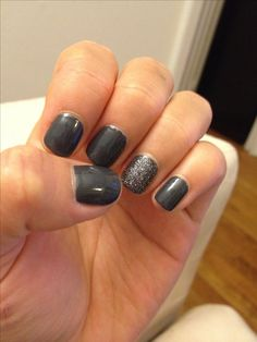My new fave winter mani colors! Cashmere Bathrobe by Essie, Ignite the Night by Essie on party nail
