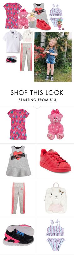"""""""Lexis outfits jarmas/party/swimming/and notmal day"""" by cleo-oxoxox ❤ liked on Polyvore featuring George, Moschino, adidas, Accessorize, NIKE and Lalaloopsy"""