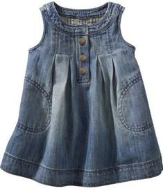 7 Sweet Dresses for Your Baby Girl . Little Dresses, Little Girl Dresses, Nice Dresses, Girls Dresses, Fashion Sewing, Kids Fashion, Baby Girl Jeans, Kurti Embroidery Design, Chambray