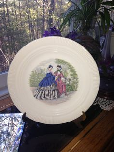 Vintage Godey Print Collector's Plate Salem China