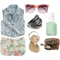 summer, created by carlygracek on Polyvore