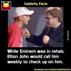 Celebrity Facts~Eminem and Elton John Eminem Funny, Eminem Memes, Eminem Rap, Stupid Funny Memes, Funny Facts, Eminem Videos, Rap History, Marshall Eminem, Best Rapper Ever