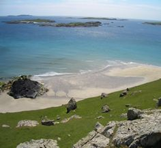 Inishbofin Island, Connemara, County Galway, Irleand ~ if you ever get the chance, you must go.  It was one of the most fun and relaxing places I've been.  We laid in this very field on a gorgeous day and enjoyed the feeling of being on our very own island.