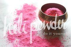 Holi Powder DIY