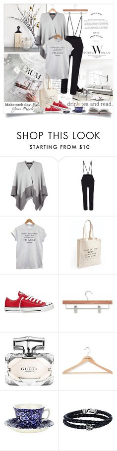 """""""Saturday November"""" by monika-jall ❤ liked on Polyvore featuring WALL, Jaeger, Converse, Honey-Can-Do, Gucci, PERIGOT, Burleigh, Phillip Gavriel, autumn and fashionset"""