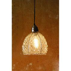 Kalalou Electric Mini Pendant w/ Eight-Inch Diameter Glass shade - For the Home - Lamps & Lighting - Ceiling Lighting