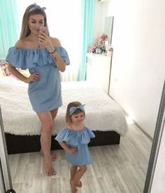 Family Dresses Mother Daughter Matching Summer Baby Girl Dress Clothes Outfit - It's a Girl Mother Daughter Matching Outfits, Mother Daughter Fashion, Mommy And Me Outfits, Matching Family Outfits, Baby Outfits, Mother Daughters, Future Daughter, Mother And Daughter Clothes, Summer Outfits